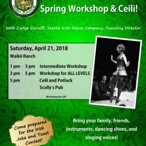 Irish Dance Workshop and Ceili